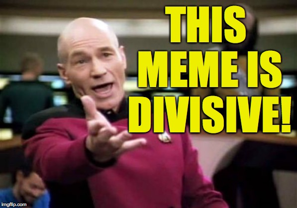 Picard Wtf Meme | THIS MEME IS DIVISIVE! | image tagged in memes,picard wtf | made w/ Imgflip meme maker