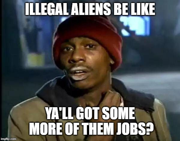 Y'all Got Any More Of That Meme | ILLEGAL ALIENS BE LIKE YA'LL GOT SOME MORE OF THEM JOBS? | image tagged in memes,y'all got any more of that | made w/ Imgflip meme maker