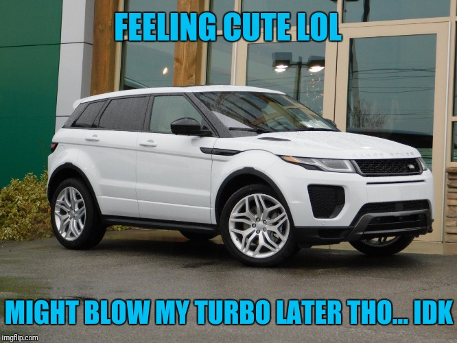 Above and Beyond Comprehension | FEELING CUTE LOL MIGHT BLOW MY TURBO LATER THO... IDK | image tagged in idk,land rover,blow,turbo,lol | made w/ Imgflip meme maker