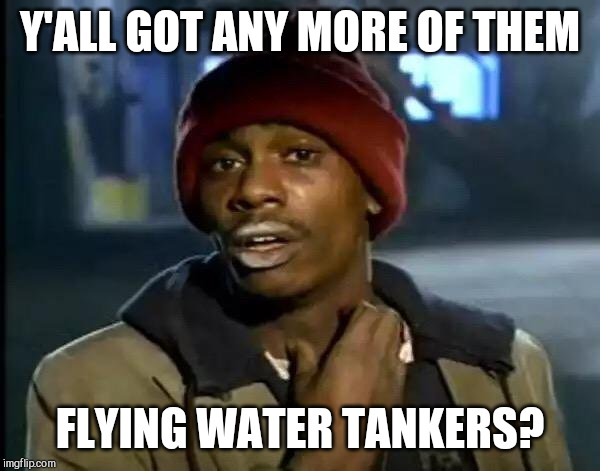 Y'all Got Any More Of That Meme | Y'ALL GOT ANY MORE OF THEM FLYING WATER TANKERS? | image tagged in memes,y'all got any more of that | made w/ Imgflip meme maker
