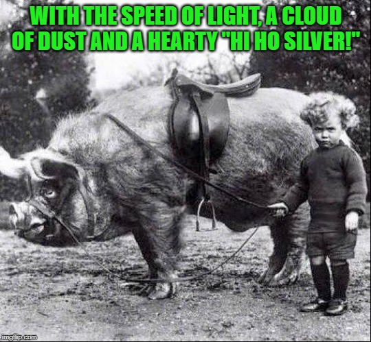 "no title | WITH THE SPEED OF LIGHT, A CLOUD OF DUST AND A HEARTY ""HI HO SILVER!"" 