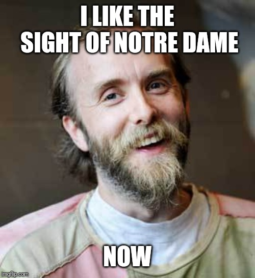 I like it now | I LIKE THE SIGHT OF NOTRE DAME NOW | image tagged in happy varg,notre dame,church,burning,happy easter | made w/ Imgflip meme maker