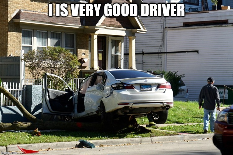i is very good driver | I IS VERY GOOD DRIVER | image tagged in grumpy cat happy | made w/ Imgflip meme maker