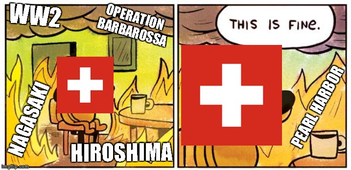 This is fine dog | WW2 OPERATION BARBAROSSA NAGASAKI HIROSHIMA PEARL HARBOR | image tagged in this is fine dog | made w/ Imgflip meme maker