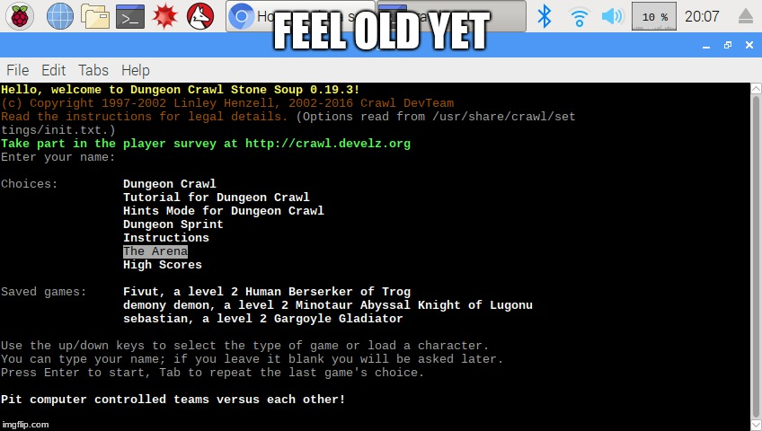 FEEL OLD YET | image tagged in crawl | made w/ Imgflip meme maker