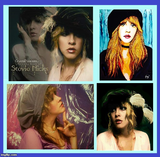 Artwork featuring Stevie Nicks in her Beret | Stevie Nicks | image tagged in vince vance,stevie nicks,beret,fleetwood mack,lindsey buckingham,paintings | made w/ Imgflip meme maker