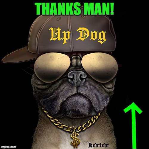 up dog | THANKS MAN! | image tagged in up dog | made w/ Imgflip meme maker
