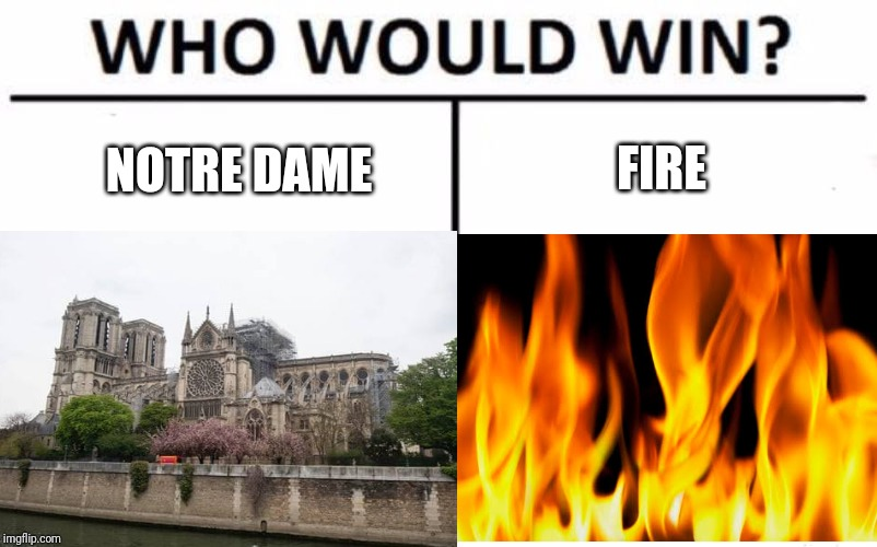 FIRE; NOTRE DAME | image tagged in meme,expanding brain | made w/ Imgflip meme maker
