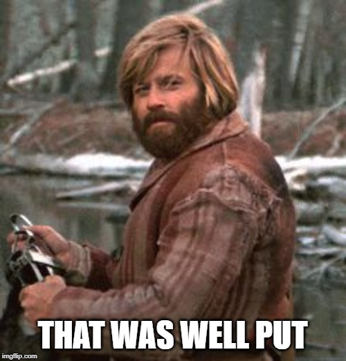 Redford nod of approval | THAT WAS WELL PUT | image tagged in redford nod of approval | made w/ Imgflip meme maker