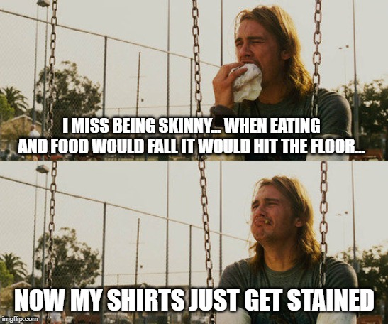 "getting old and fat ""was bored so meme a joke"" 
