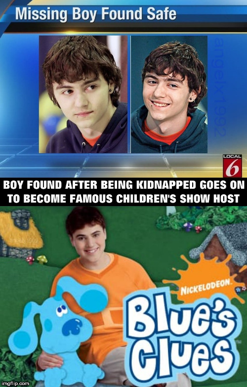 image tagged in blues clues,nickelodeon,puppy,throwback thursday,joe,blue | made w/ Imgflip meme maker