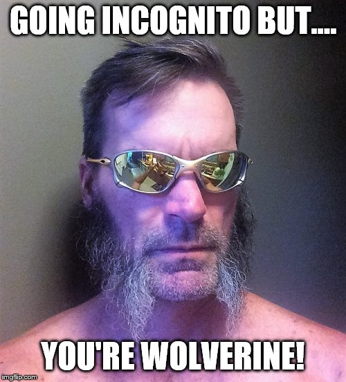 As I live and breathe! | GOING INCOGNITO BUT.... YOU'RE WOLVERINE! | image tagged in x-men | made w/ Imgflip meme maker