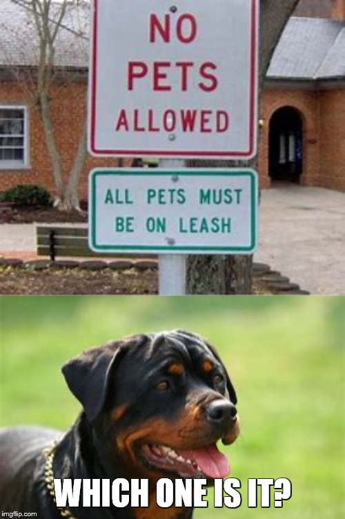 """Pets Restricted Oddly"" Signs Week - April 17-23, A LordCheesus and DaBoiIsMeAvery event 