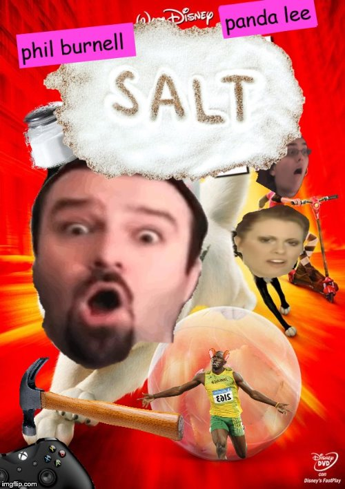 salt the superdawg | image tagged in dsp,darksydephil,usain bolt,panda lee,salt,bolt | made w/ Imgflip meme maker