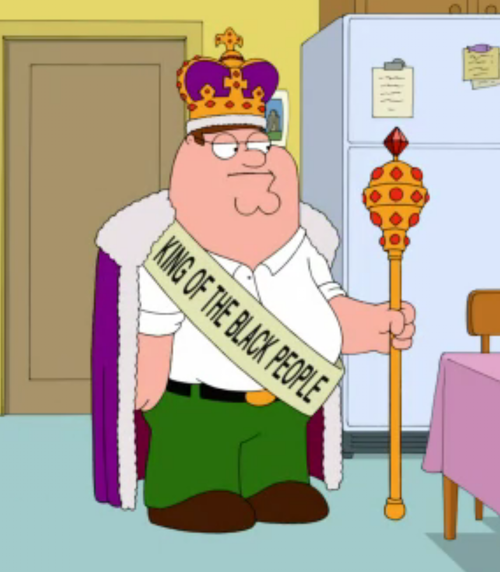 King of the black people peter griffin Meme Template