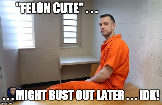 "Felon--Feeling--Cute | ""FELON CUTE"" . . . . . . MIGHT BUST OUT LATER . . . IDK! 