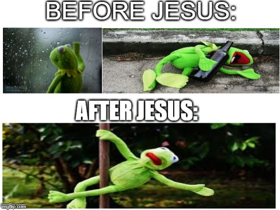 Kermit Growth | image tagged in funny memes,kermit the frog,meme,christian,funny | made w/ Imgflip meme maker