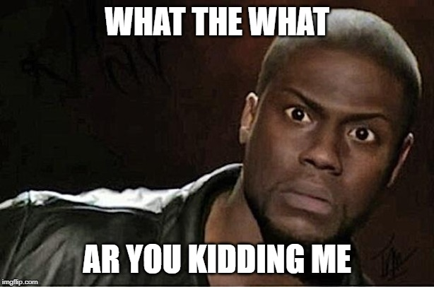 Kevin Hart | WHAT THE WHAT AR YOU KIDDING ME | image tagged in memes,kevin hart | made w/ Imgflip meme maker