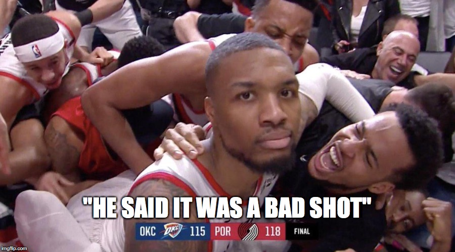 """HE SAID IT WAS A BAD SHOT"" 