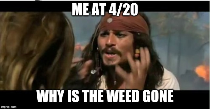 Why Is The Rum Gone | ME AT 4/20 WHY IS THE WEED GONE | image tagged in memes,why is the rum gone | made w/ Imgflip meme maker