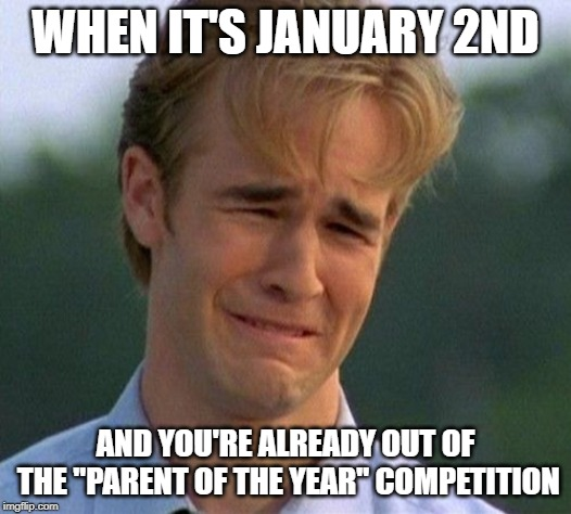 "1990s First World Problems | WHEN IT'S JANUARY 2ND AND YOU'RE ALREADY OUT OF THE ""PARENT OF THE YEAR"" COMPETITION 