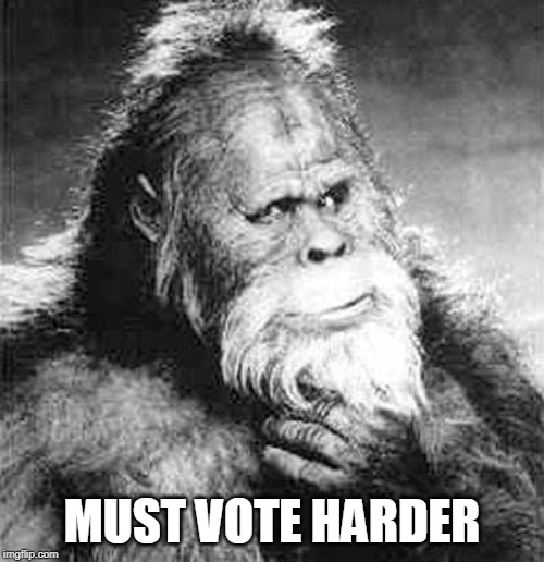 Must Vote Harder | MUST VOTE HARDER | image tagged in vote | made w/ Imgflip meme maker