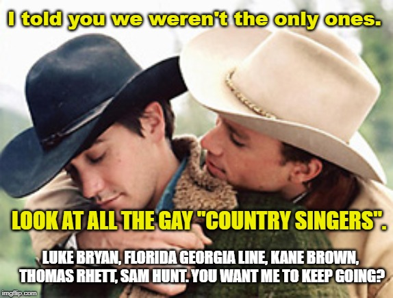 "*New* County is GAY | I told you we weren't the only ones. LOOK AT ALL THE GAY ""COUNTRY SINGERS"". LUKE BRYAN, FLORIDA GEORGIA LINE, KANE BROWN, THOMAS RHETT, SAM  