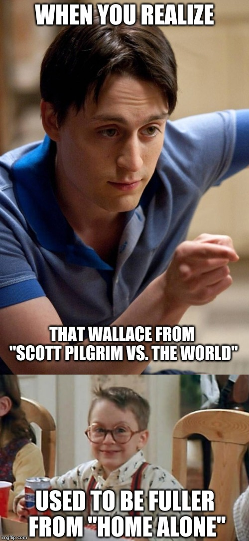 "Yes, I know. Same actor. | WHEN YOU REALIZE USED TO BE FULLER FROM ""HOME ALONE"" THAT WALLACE FROM ""SCOTT PILGRIM VS. THE WORLD"" 