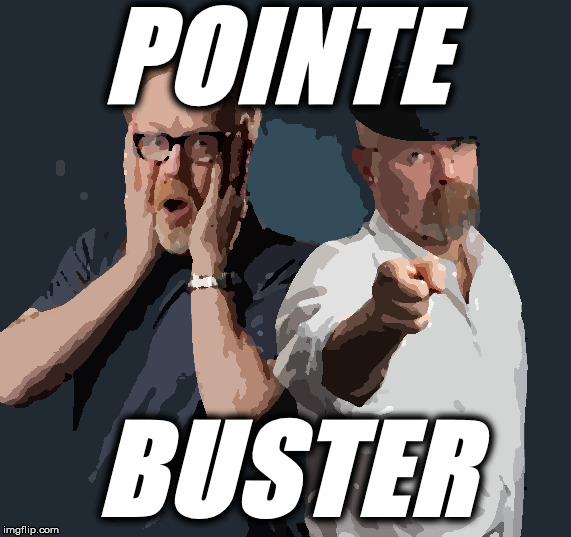 POINTE BUSTER |  POINTE; BUSTER | image tagged in mythbusters | made w/ Imgflip meme maker