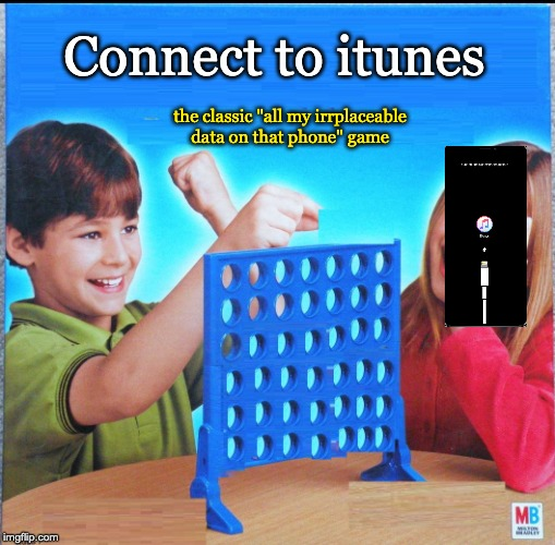 "Blank Connect Four | Connect to itunes the classic ""all my irrplaceable data on that phone"" game 