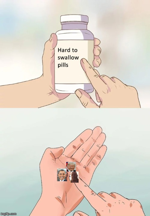 Mortal Swallowing Hard Pills | image tagged in memes,hard to swallow pills,president,thanos | made w/ Imgflip meme maker