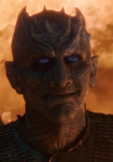 High Quality Night King Smile Blank Meme Template