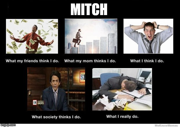 What I really do | MITCH | image tagged in what i really do | made w/ Imgflip meme maker
