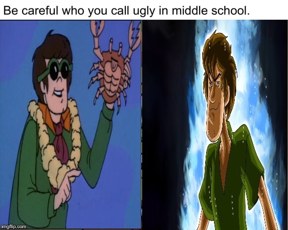 image tagged in shaggy,scooby doo,sexy,middle school | made w/ Imgflip meme maker