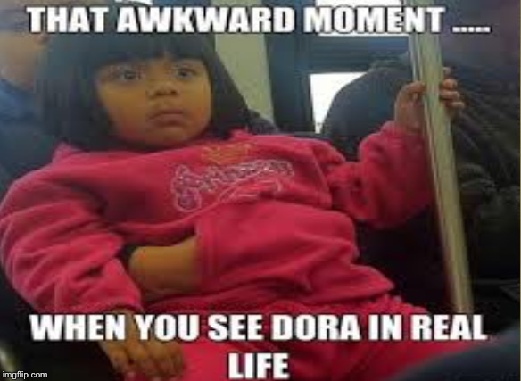 Little baby dora | image tagged in dora the explorer,baby | made w/ Imgflip meme maker