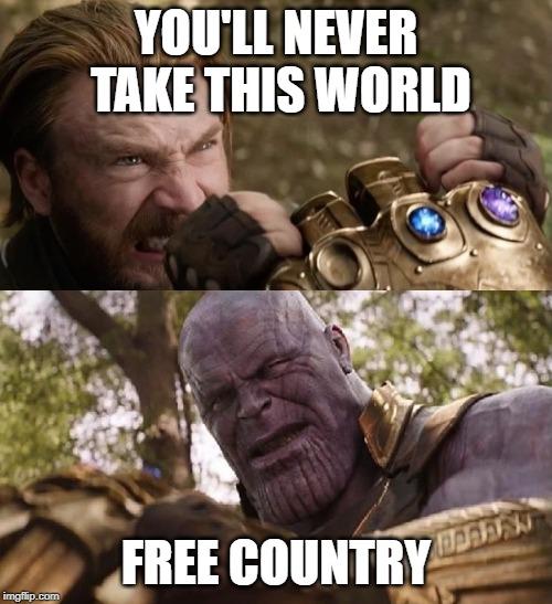 Politics Avengers Infinity War Cap Vs Thanos Memes Gifs