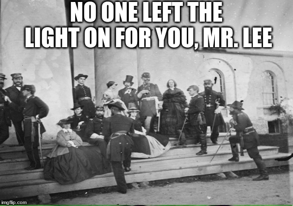 NO ONE LEFT THE LIGHT ON FOR YOU, MR. LEE | image tagged in cemetery | made w/ Imgflip meme maker