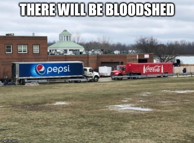 trucks | THERE WILL BE BLOODSHED | image tagged in trucks | made w/ Imgflip meme maker