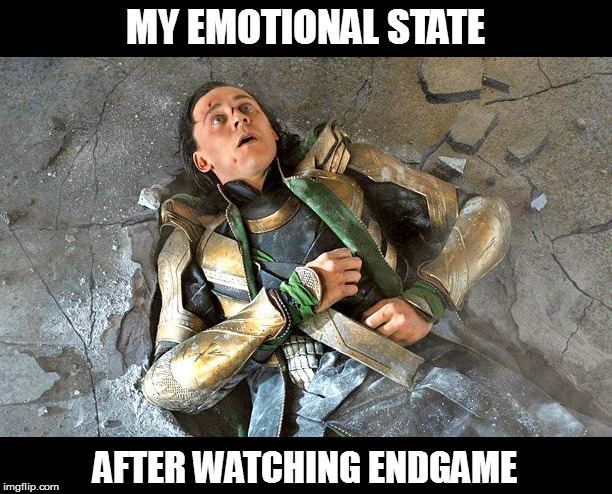 Hulk not crying, YOU crying! |  MY EMOTIONAL STATE; AFTER WATCHING ENDGAME | image tagged in memes,loki pummled,avengers endgame,rollercoaster | made w/ Imgflip meme maker