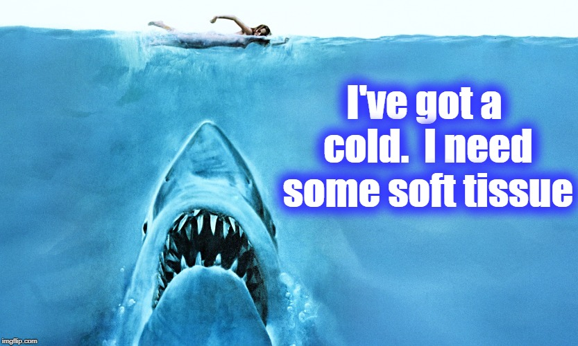 I've got a cold.  I need some soft tissue | made w/ Imgflip meme maker