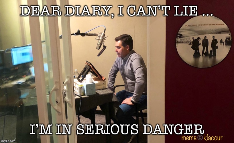 DEAR DIARY, I CAN'T LIE ... I'M IN SERIOUS DANGER | image tagged in cnn,jim acosta,i too like to live dangerously | made w/ Imgflip meme maker