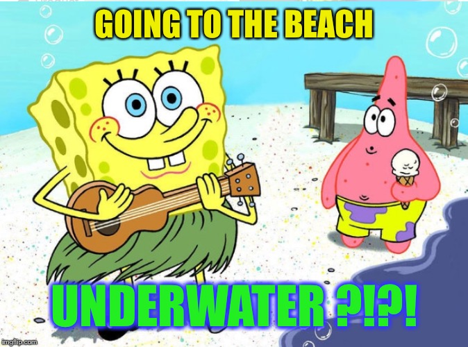 GOING TO THE BEACH UNDERWATER ?!?! | made w/ Imgflip meme maker