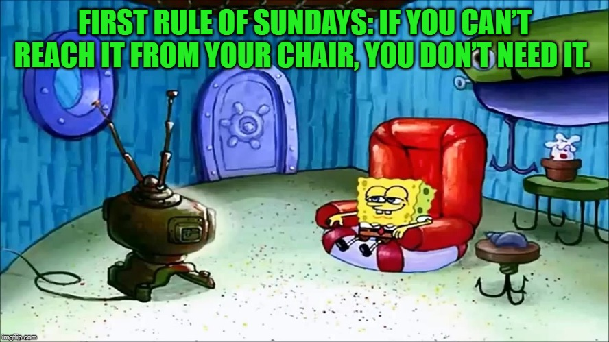 "Spongebob Week"" April 29th to May 5th an EGOS production. 