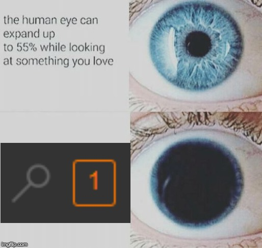 Just think what would happen with 5. | image tagged in the pupil of your eye,notification,one notification | made w/ Imgflip meme maker