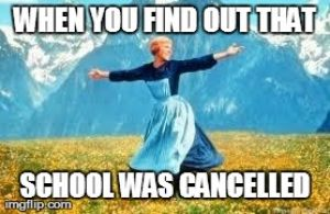 Look At All These Meme | WHEN YOU FIND OUT THAT SCHOOL WAS CANCELLED | image tagged in memes,look at all these | made w/ Imgflip meme maker