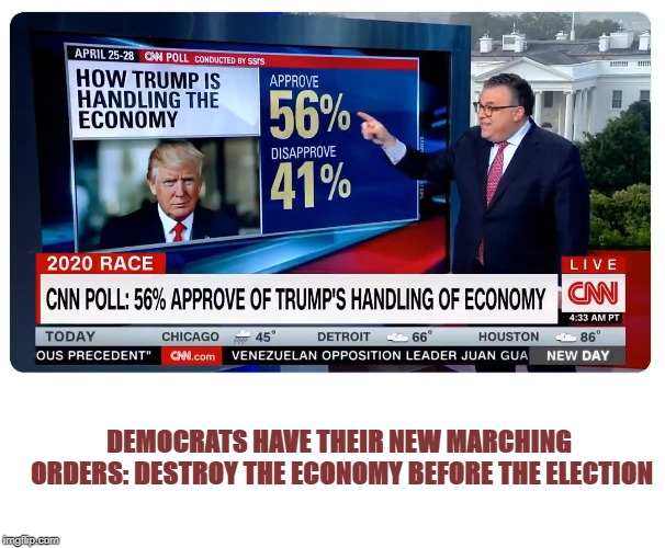 It must have crushed CNN to post this. | DEMOCRATS HAVE THEIR NEW MARCHING ORDERS: DESTROY THE ECONOMY BEFORE THE ELECTION | image tagged in maga,socialism sucks | made w/ Imgflip meme maker