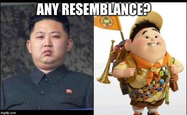 ANY RESEMBLANCE? | image tagged in north korea,disney | made w/ Imgflip meme maker