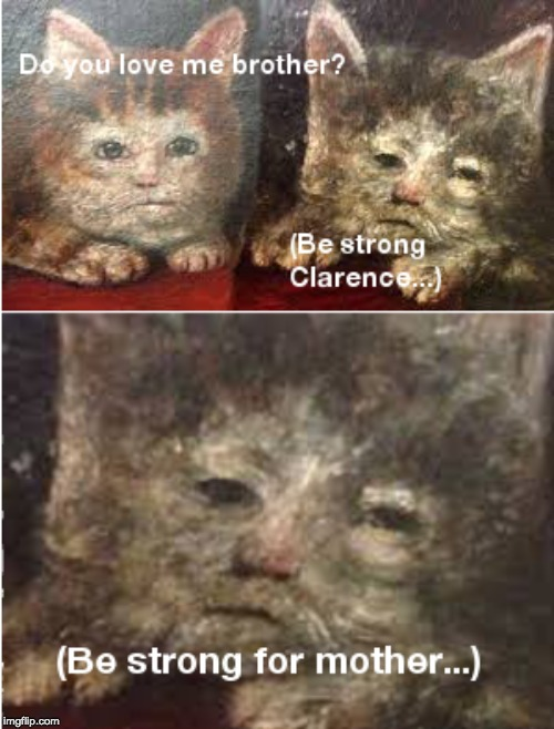 Be Strong Clarence | image tagged in funny cat memes | made w/ Imgflip meme maker
