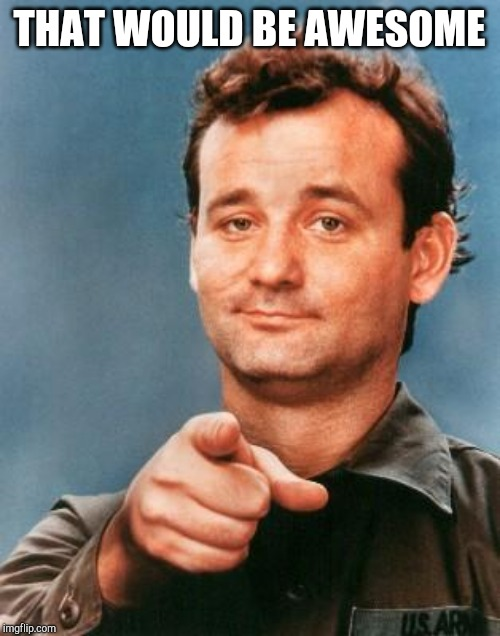 THAT WOULD BE AWESOME | image tagged in bill murray you're awesome | made w/ Imgflip meme maker