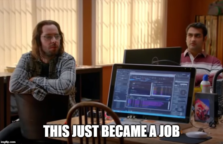 THIS JUST BECAME A JOB | made w/ Imgflip meme maker